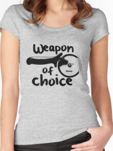 Weapons of choice - Pizza - Black Women's Fitted Scoop T-Shirt