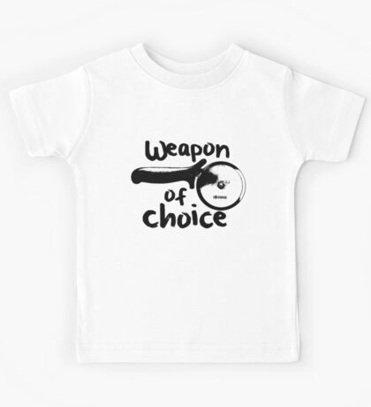 Weapons of choice - Pizza - Black Kids Tee