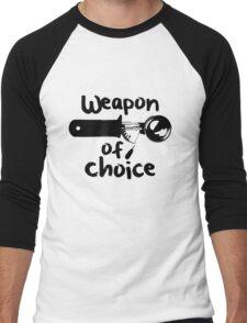 Weapons of choice - Ice Cream - Black Men's Baseball ¾ T-Shirt