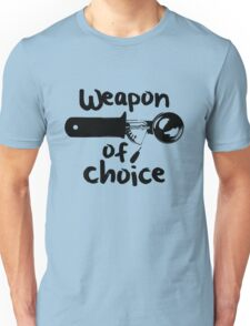 Weapons of choice - Ice Cream - Black Unisex T-Shirt