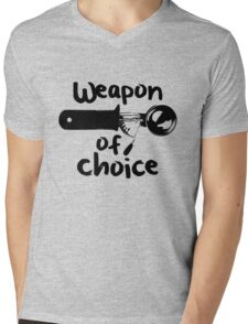 Weapons of choice - Ice Cream - Black Mens V-Neck T-Shirt
