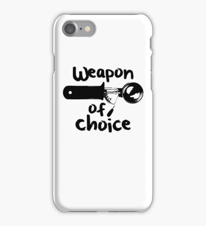 Weapons of choice - Ice Cream - Black iPhone Case/Skin