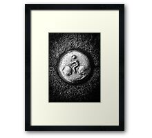 Carved bicycles  Framed Print