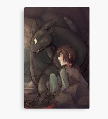 Thunderstorm - Hiccup and Toothless Canvas Print