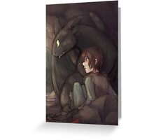 Thunderstorm - Hiccup and Toothless Greeting Card