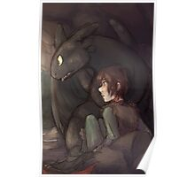 Thunderstorm - Hiccup and Toothless Poster