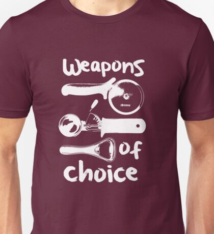 Weapons of choice - Full Set - White Unisex T-Shirt