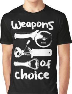 Weapons of choice - Full Set - White Graphic T-Shirt
