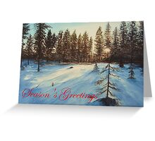Freezing Forest Season's Greetings Greeting Card
