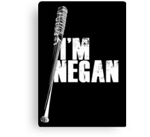 Negan - white Canvas Print