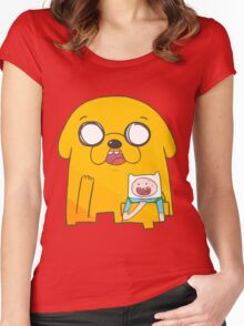 Adventure Time!!!! Women's Fitted Scoop T-Shirt