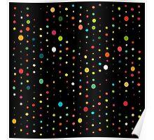 retro rain spots black Poster