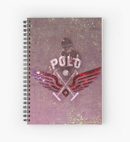 polo player red (cpc) Spiral Notebook