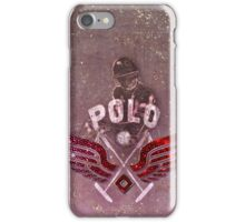 polo player red (cpc) iPhone Case/Skin