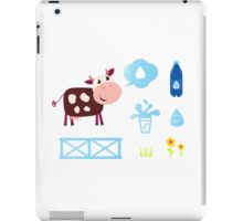 New stylish bio cow with Accessories / New illustration iPad Case/Skin