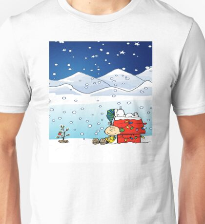 christmas snow snoopy Unisex T-Shirt