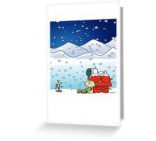 christmas snow snoopy Greeting Card