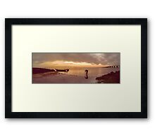Photographer in action Framed Print