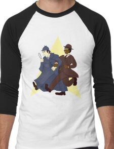 Data and Geordi as Sherlock and Watson Men's Baseball ¾ T-Shirt