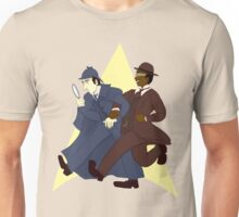 Data and Geordi as Sherlock and Watson Unisex T-Shirt