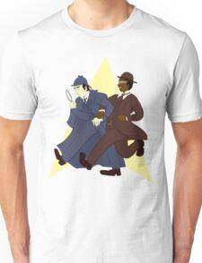 Data and Geordi as Sherlock and Watson Unisex T-Shirt
