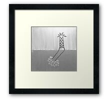 Oil over Trees Acrylic Painting B&W Framed Print