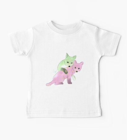 Pastel Foxes Baby Tee