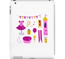 Collection of design elements for Princess Party iPad Case/Skin