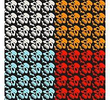 Colorful Skulls Photographic Print