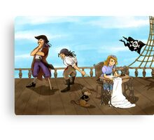 Tammy and the Pirates Canvas Print