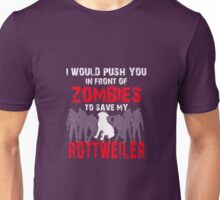 Front Of Zombies Rottweiler Unisex T-Shirt