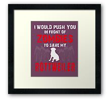 Front Of Zombies Rottweiler Framed Print