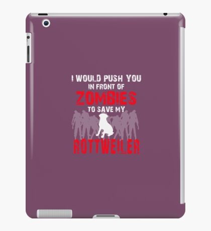 Front Of Zombies Rottweiler iPad Case/Skin
