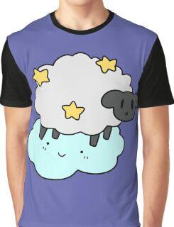 Star Cloud Sheep Graphic T-Shirt