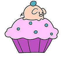 Cupcake Pig Photographic Print
