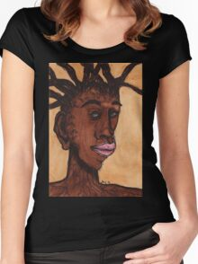Creepy Tree Man  Women's Fitted Scoop T-Shirt