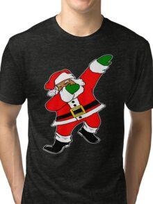Dab Black Santa Tri-blend T-Shirt
