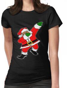 Dab Black Santa Womens Fitted T-Shirt