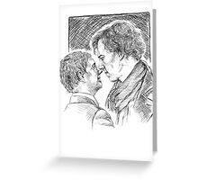 Sherlock & John - Johnlock Greeting Card