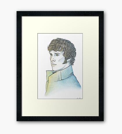 Benedict Cumberbatch [watercolours] Framed Print