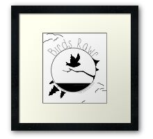 Birds Rawr - World Framed Print