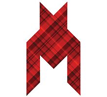 Red Houndstooth Tartan by Banzboy