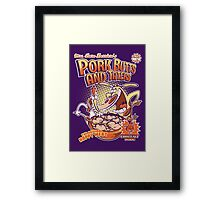 Pork butts and taters Framed Print