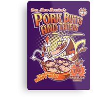 Pork butts and taters Metal Print