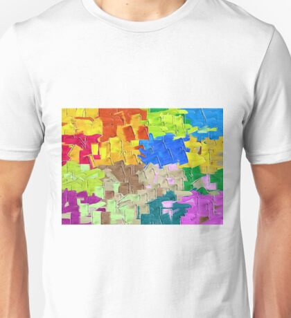colorful painting texture abstract background Unisex T-Shirt