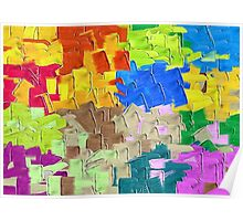 colorful painting texture abstract background Poster