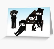 Fab Four In The Snow  Greeting Card