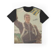 Russian military typography poster Graphic T-Shirt