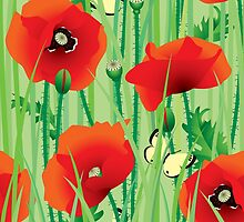 Seamless of poppy by maystra