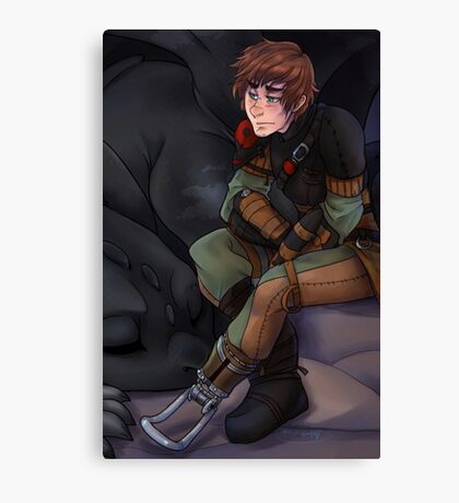 Hiccup and Toothless - How to Train Your Dragon 2 Canvas Print